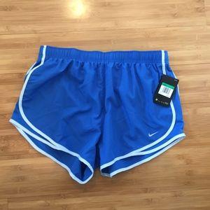 Women's Nike Dri-Fit XL blue running shorts